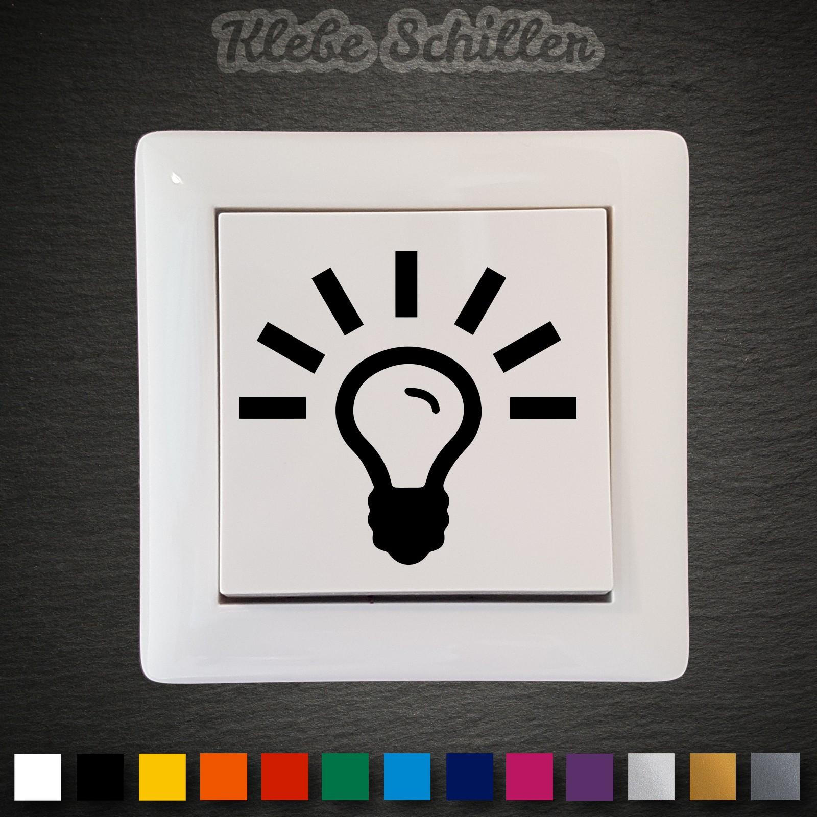 14415 Lichtschalter Aufkleber 45x42mm Licht Schalter Taster Symbole ...