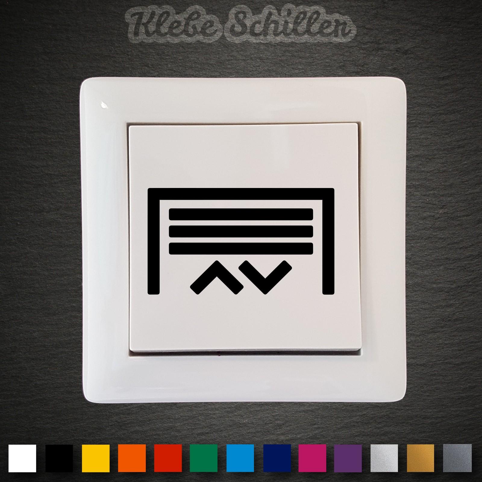 Garagentor design aufkleber  14418 Garagentor Aufkleber 45x26mm Schalter Taster Symbole Tor ...